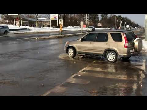 Broken water main in Mississauga, ON (1 of 3)