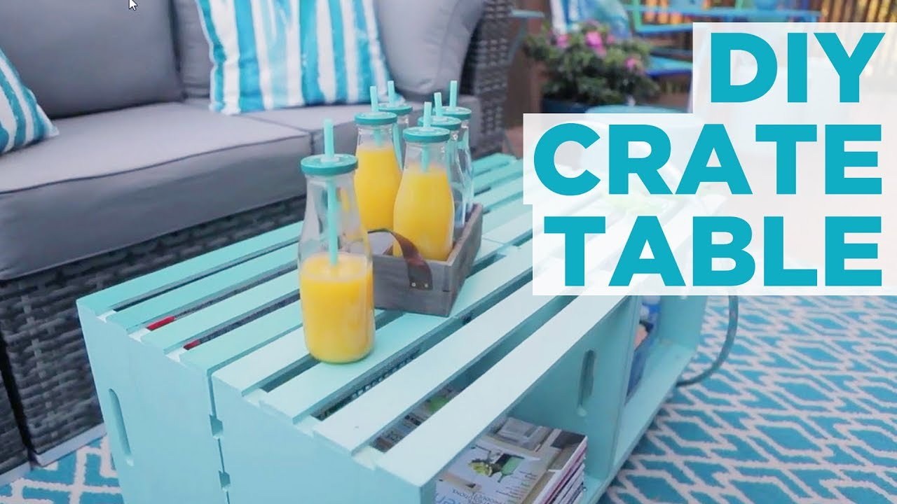 DIY Crate Coffee Table HGTV YouTube