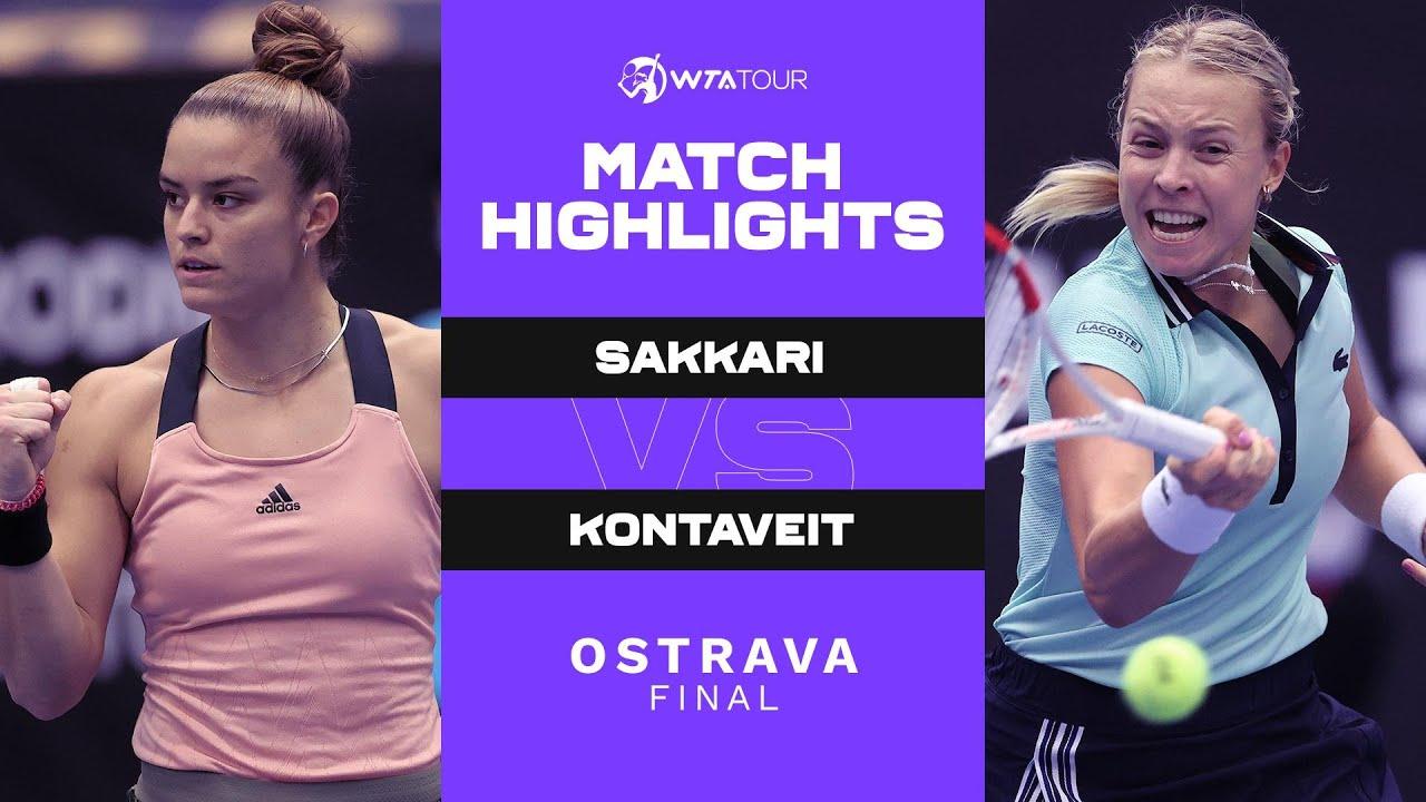 Download Maria Sakkari vs. Anett Kontaveit | 2021 Ostrava Final | WTA Match Highlights