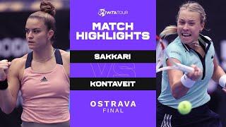 Maria Sakkari vs. Anett Kontaveit | 2021 Ostrava Final | WTA Match Highlights