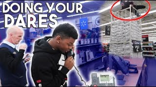 DOING YOUR DARES IN WALMART 8! (INTERCOM CHALLENGE)
