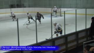 Acton Boxborough Varsity Girls Ice Hockey vs Chelmsford 1/2/16