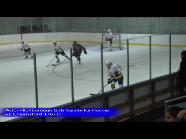 Acton Boxborough Varsity Girls Ice Hockey vs Chelmsford 1/2/16