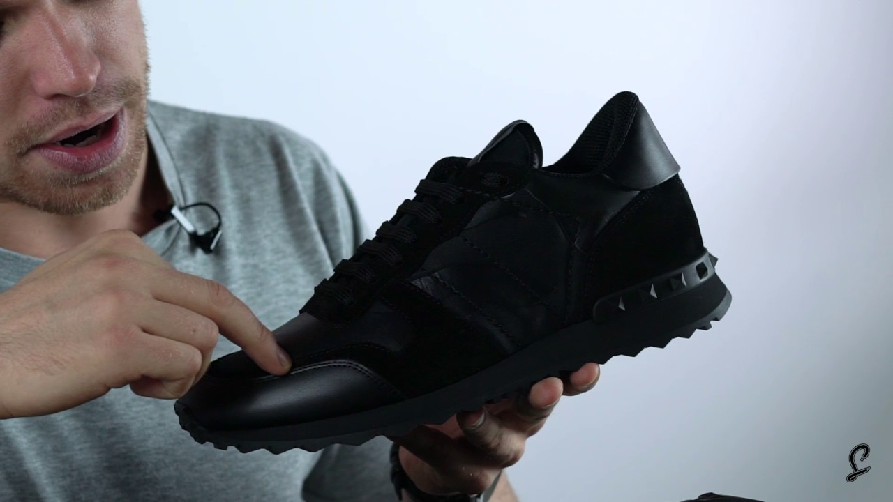 dde5f9bbeefc1 Valentino Rockrunner Triple Black Premium Unboxing - YouTube