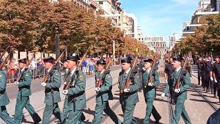Desfile Guardia Civil acto Virgen del Pilar