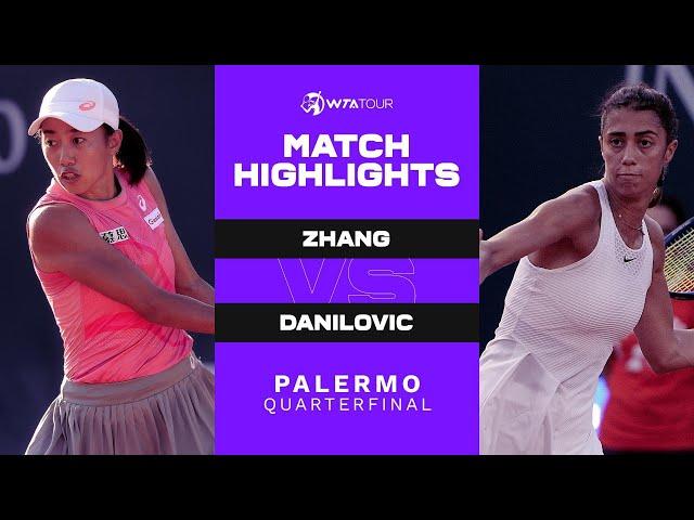 Shuai Zhang vs. Olga Danilovic | 2021 Palermo Quarterfinal | WTA Match Highlights