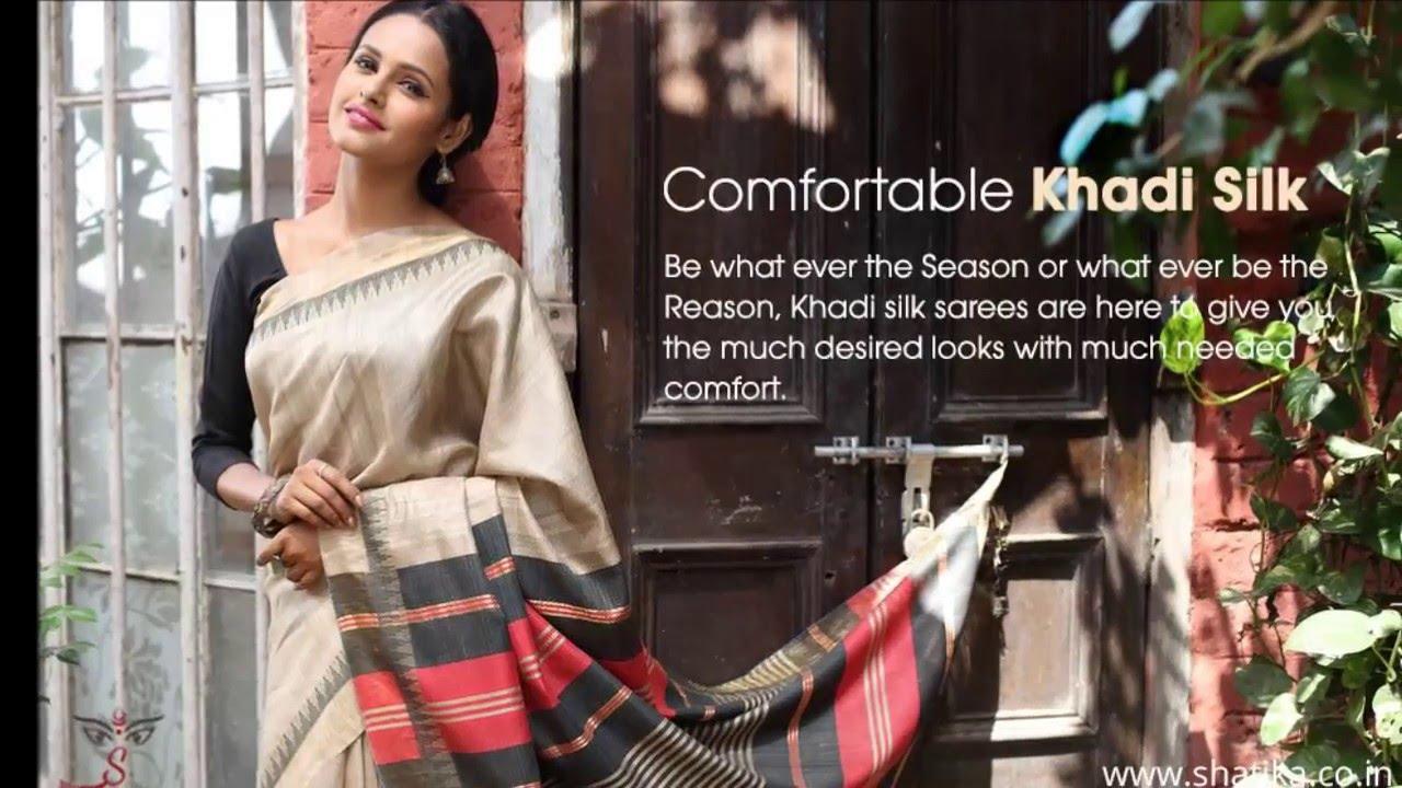 ae50d1c13c Buy Pure Khadi Silk Sarees Online - YouTube