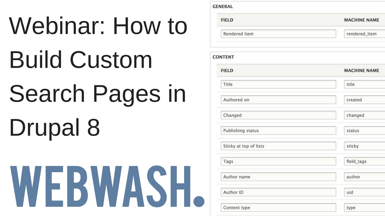 Webinar: How to Build Custom Search Pages in Drupal 8