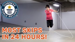 Hijiki Ikuyama: Most skips in 24 hours! - Meet The Record Breakers