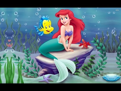 Princesa Ariel No Fundo Do Mar A Pequena Sereia Disney Desenho