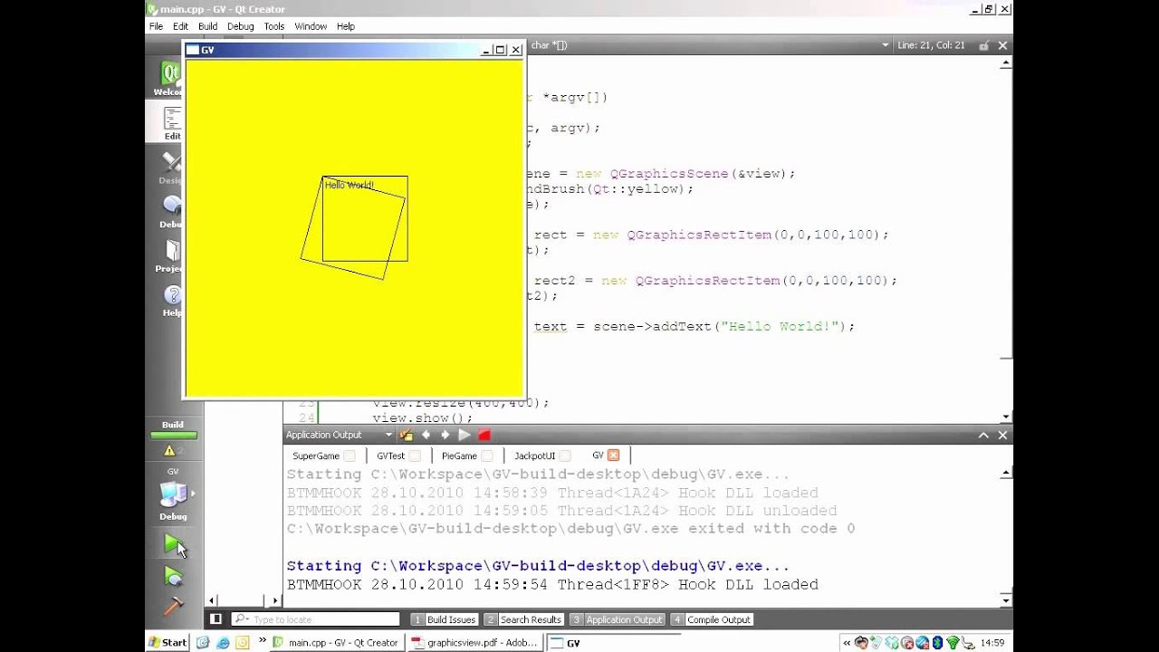 Qt Training: Graphics View (part 2/3): Transformations and Coordinate  Systems