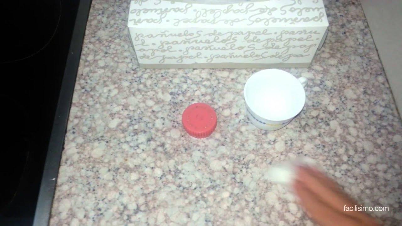 C mo abrillantar la encimera viyoutube for Como limpiar pisos de marmol y granito
