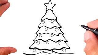 Como Desenhar ARVORE DE NATAL - Christmas