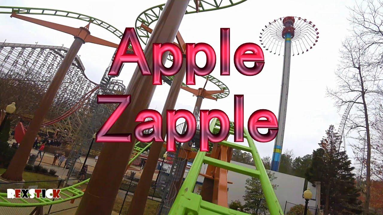 apple zapple front seat pov kings dominion 4k ricochet roller