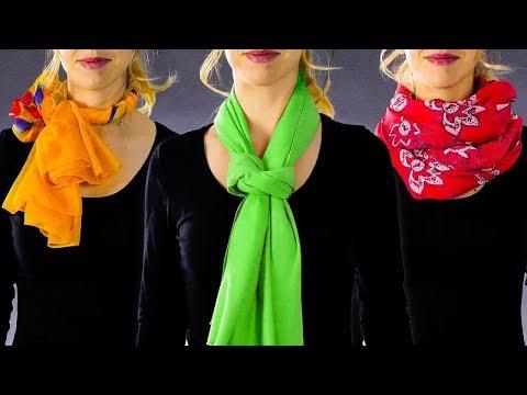 Как завязать тонкий шарф