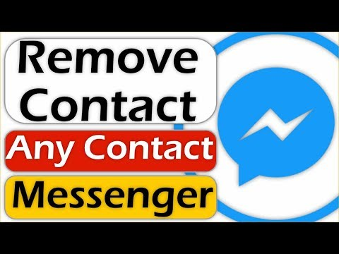 How To Remove A Contact From Messenger Contacts List