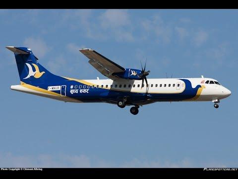 Landing II Nepalgunj Airport II Buddha Air II ATR72 -500