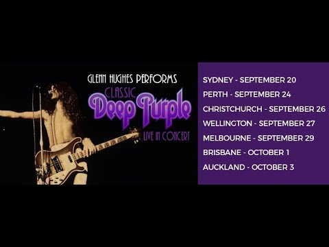 Glenn Hughes performs Deep Purple Classics on Australian TV in September 2017.