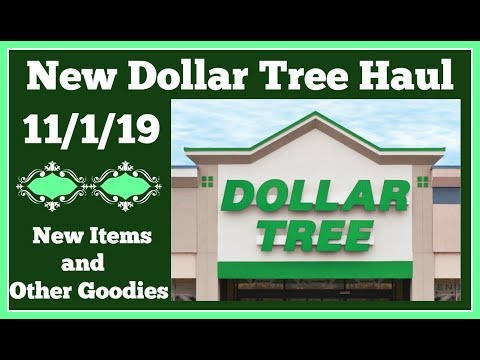 New Dollar Tree Haul 🤑 11/1/19 New Items and other goodies