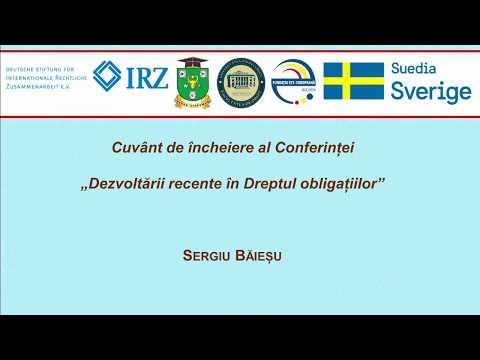 Prof. S. Baiesu — Cuvant de incheiere
