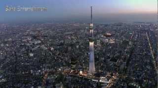 東京スカイツリーライトアップ粋をヘリコプターで空撮しました。 新しい...