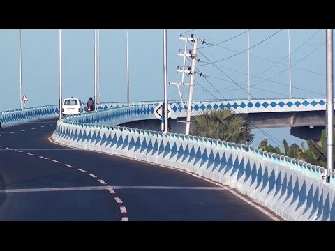 Fly Over Bridge in Chandannagar HD video  - west bengal India