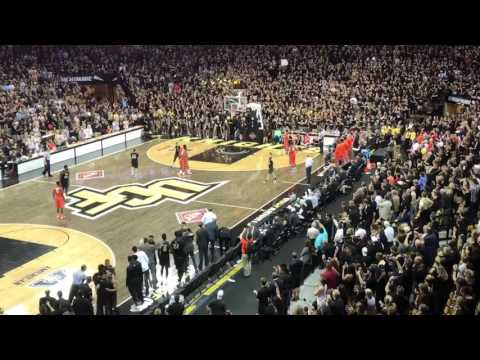 UCF Students Storm The Court After NIT Win Over Illinois