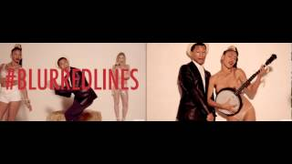 Blurred Line #Thicke comparaison : unrated vs censured