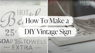 How To Make a Sign | DIY Stenciling Tutorial for Making Wooden Signs