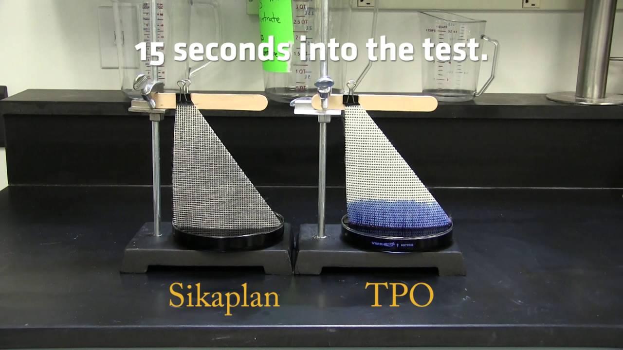 Pvc Vs Tpo Water Absorption Test Youtube
