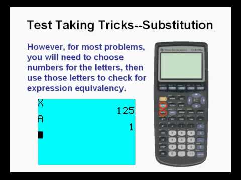 Test Taking Tricks 1 Using the Graphing Calculator - YouTube
