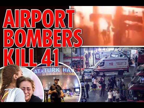 Istanbul attack CCTV footage inside the airport