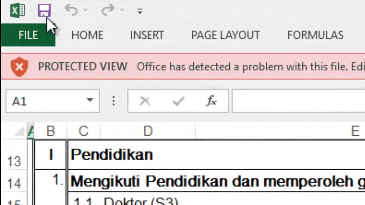 mengatasi masalah password protected view pada ms