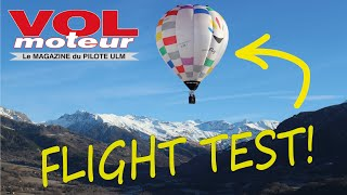 "FlyDOO ultralight ""paramotor"" balloon tested by the magazine Vol Moteur!"