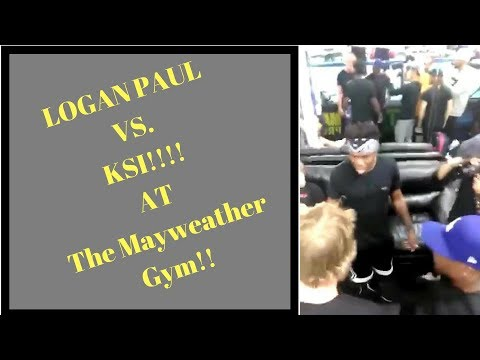 LOGAN PAUL & KSI FACE OFF INSIDE THE MAYWEATHER BOXING CLUB!!!