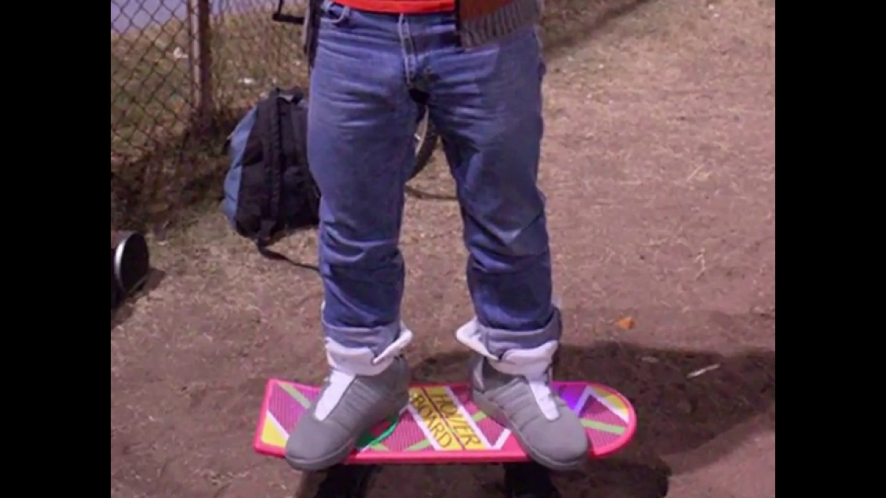 Marty Mcfly Hovering Hoverboard Costume Light Up Air Mags
