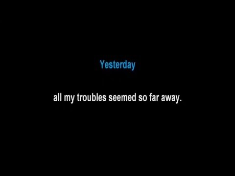 The Beatles - Yesterday (Lyrics. Guitar. Karaoke. Minus One)
