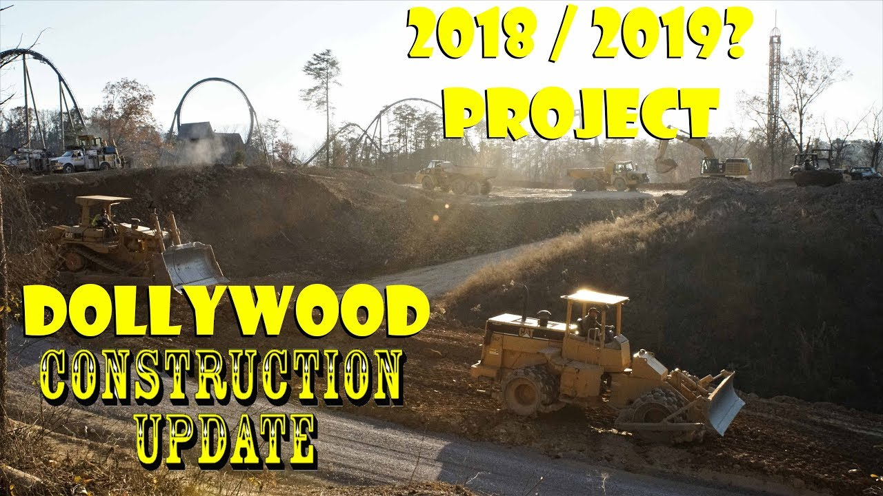 Dollywood 2018 / 2019? Construction Update From The Train MASSIVE Amounts  Of Clearing