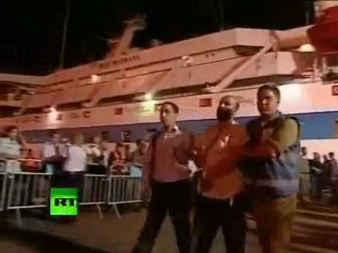 IDF video of aid activists taken down from Mavi Marmara ship after Israeli raid
