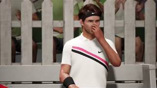 AO International Tennis ‎| Rafael Nadal vs Roger Federer | XBOX ONE X 4K Gameplay