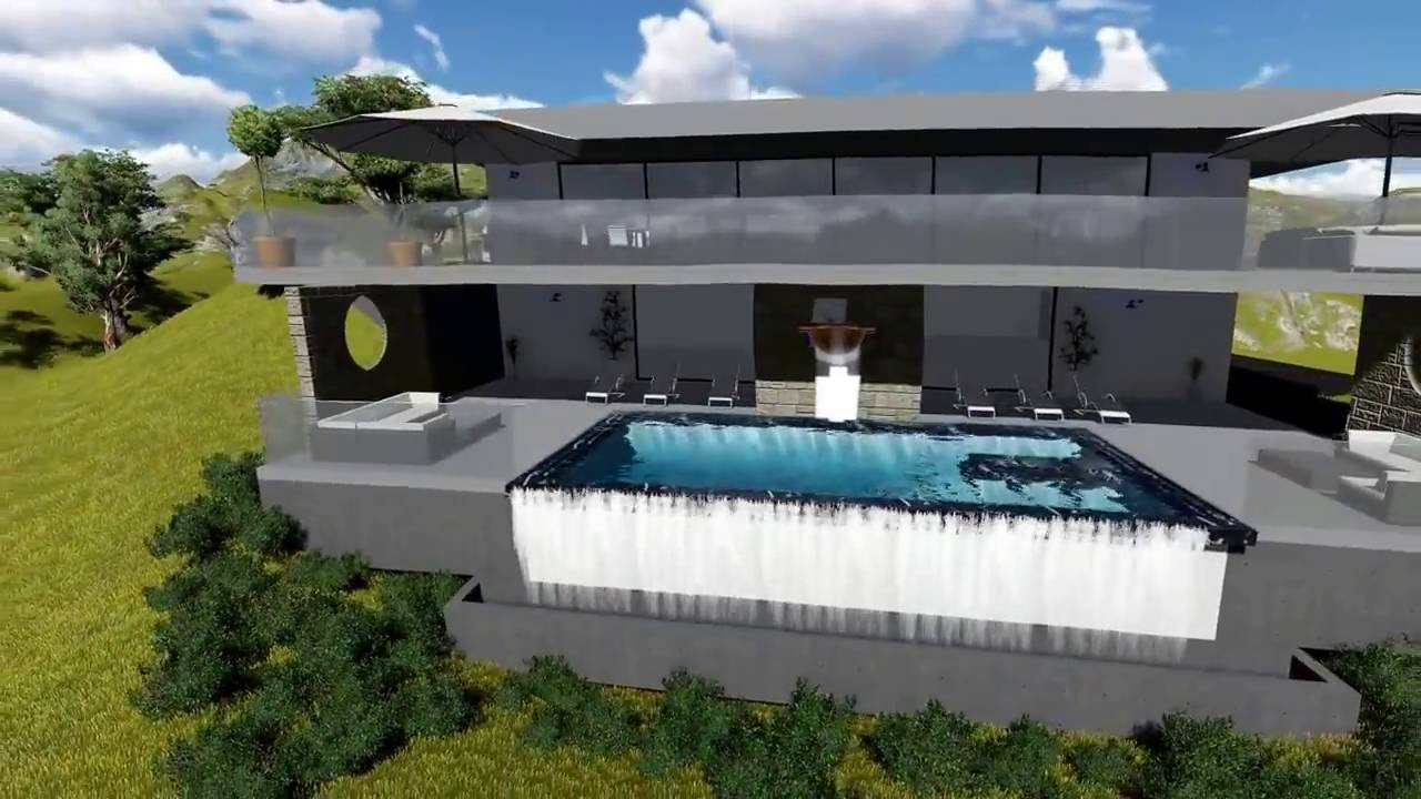 projet 1 piscine miroir mod lisation 3d youtube. Black Bedroom Furniture Sets. Home Design Ideas