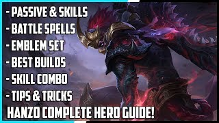 Download Video New Hero Hanzo Complete Guide! Best Build, Spells, Skill Combo, Tips & Tricks | Mobile Legends MP3 3GP MP4