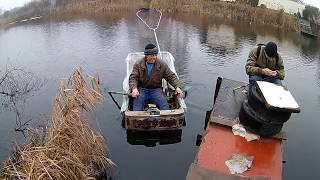 рыбалка 31 декабря на самодельной лодке