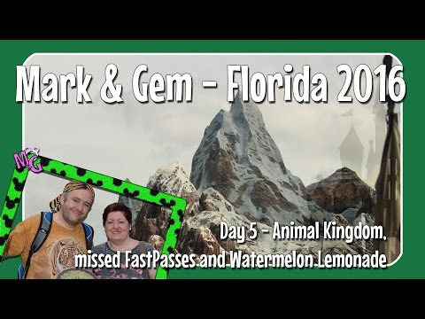 Florida 2016 - Day 5 - Animal Kingdom, Missed FastPasses and Watermelon Lemonade