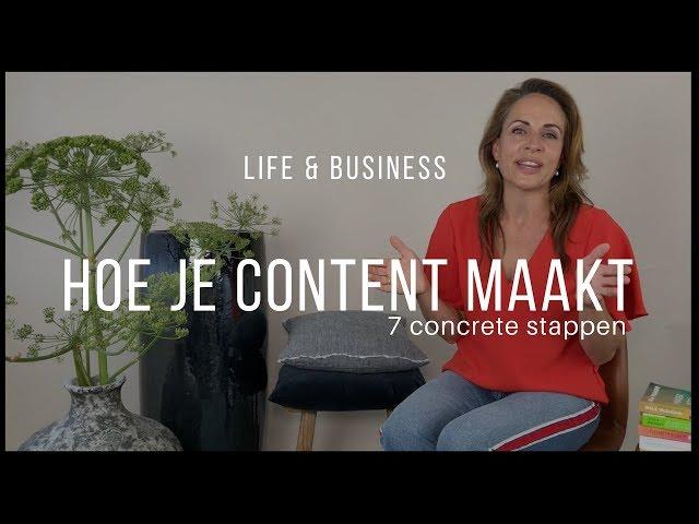 Hoe maak je content?   Life & Business afl. 1