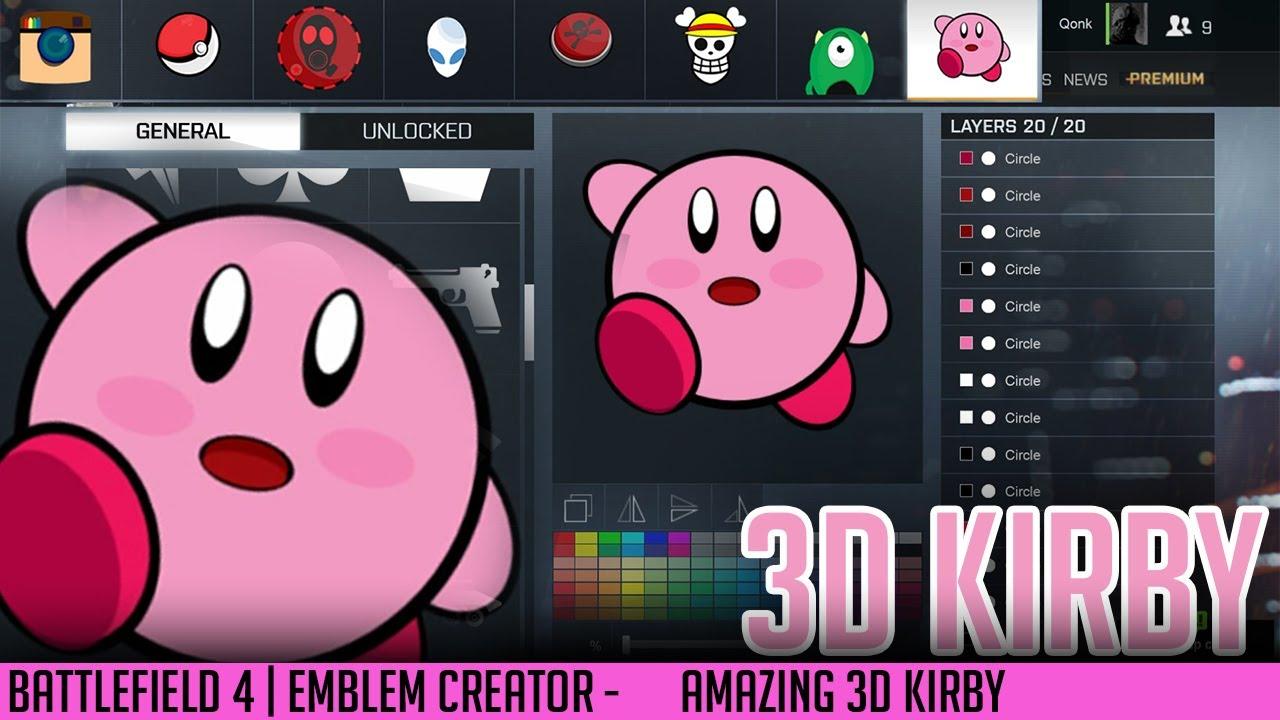 battlefield emblems creator 3d kirby amazing qonkey youtube