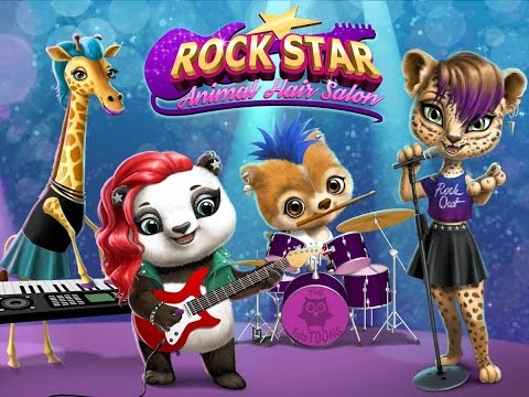 Rock star Animal hair salon Tuto Toons Educational pretend Play games Android Gamplay video