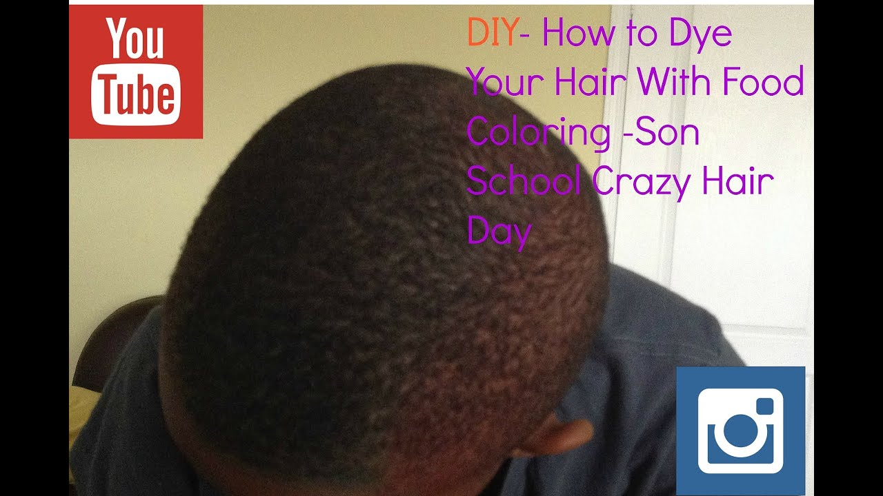 Diy How To Color Hair With Food Coloring Color My Son Hair For
