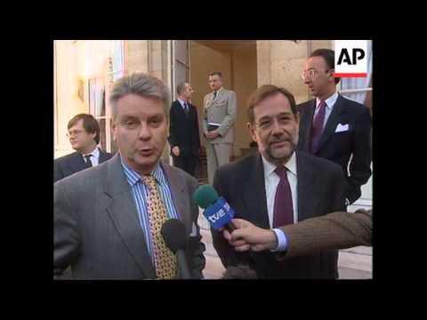 France - Solana meets with Alain Richard