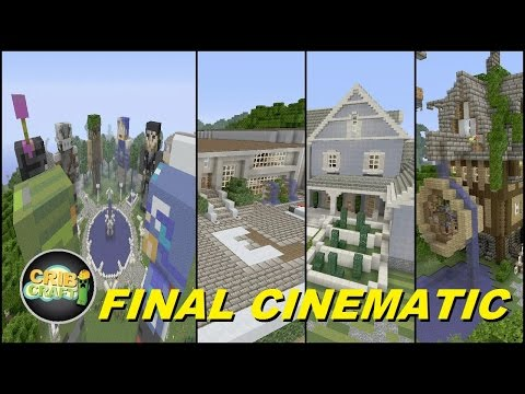 Minecraft Xbox 360: Cribcraft World Final Cinematic With Download (Huge Minecraft Town)